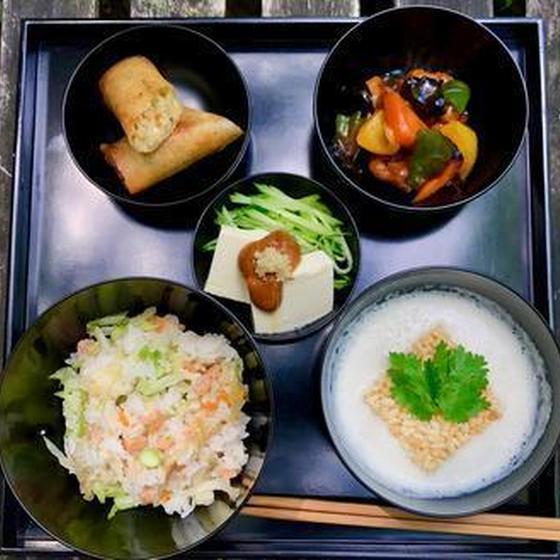 旬を楽しむ精進料理<葉月>