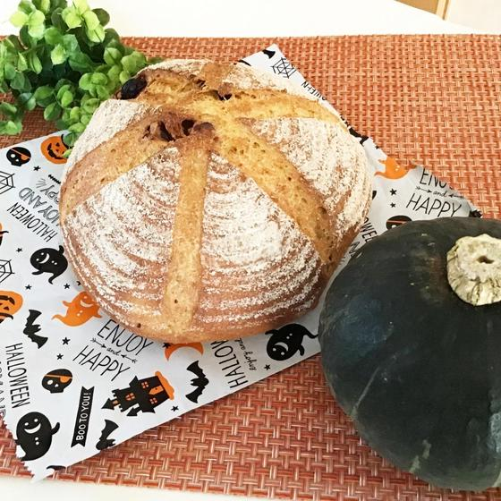 ぶどう酵母でパンプキンカンパーニュ&パンプキンボール