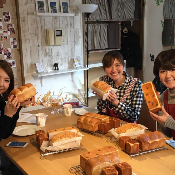 【横浜のお洒落なパン教室】初めての方も大歓迎!フワフワ食パン