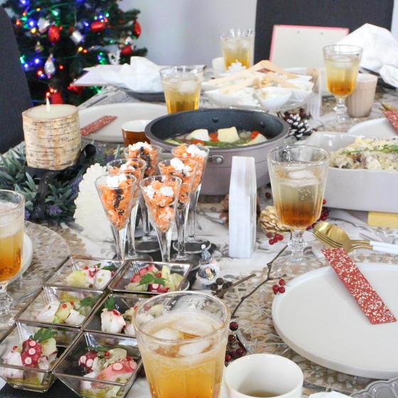時短でできるカジュアルなおもてなし料理<クリスマステーブル>