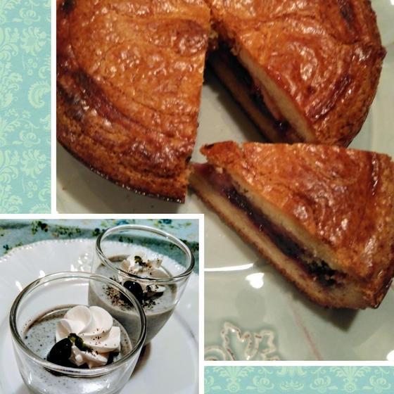 フランスの素朴な焼き菓子ガトーバスク&ぷるぷる黒ゴマプリン♪