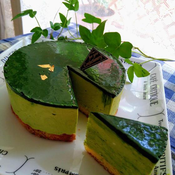 抹茶大好きさんのための♪抹茶のレアーチーズケーキ(15cm)