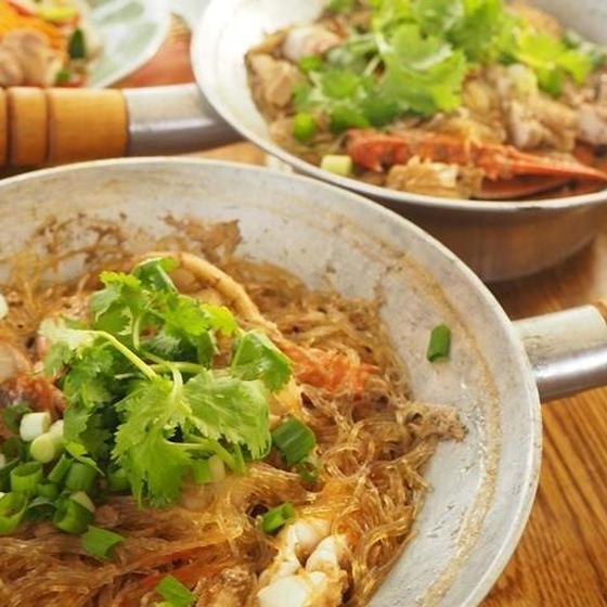 プー・オプ・ウンセン(蟹と春雨のあっさり蒸し)は優しいお味!