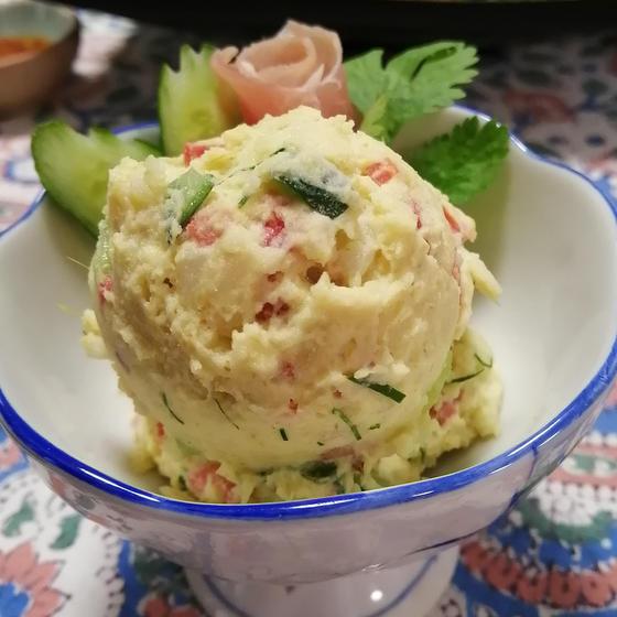 グリーンカレーのポテトサラダ