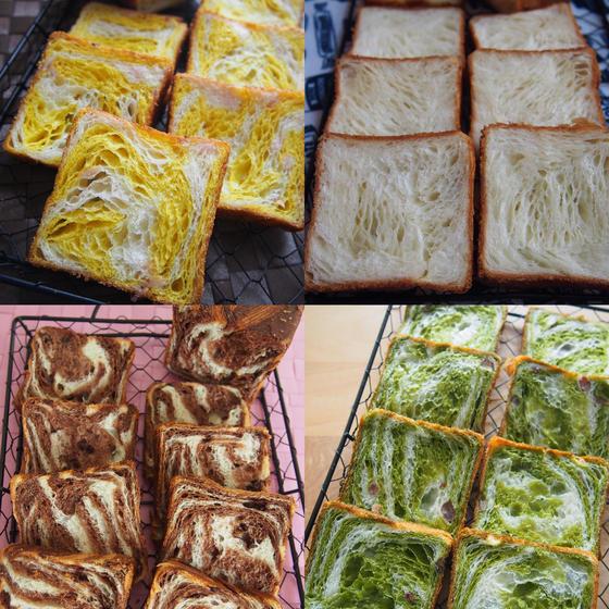 冬期限定 デニッシュ食パン プレーンとマーブルの2種レッスン