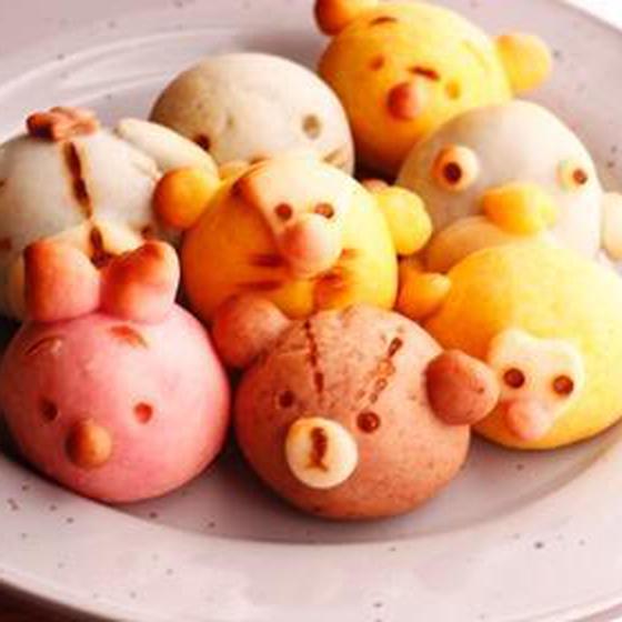 可愛い動物がお饅頭になって登場!:動物まんじゅうレッスン