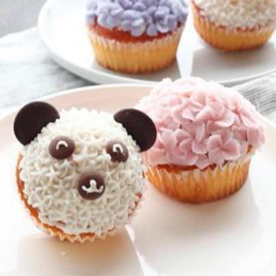 初めてのあんケーキ♡お花絞りが楽しくなる