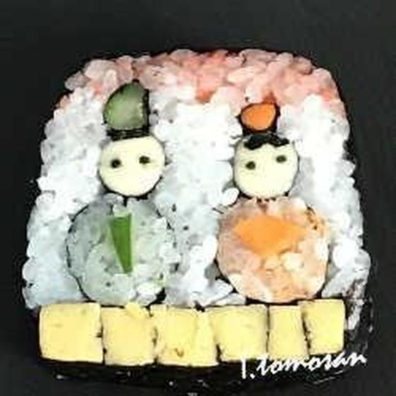 飾り巻き寿司  めおと雛 <長久手教室開催>