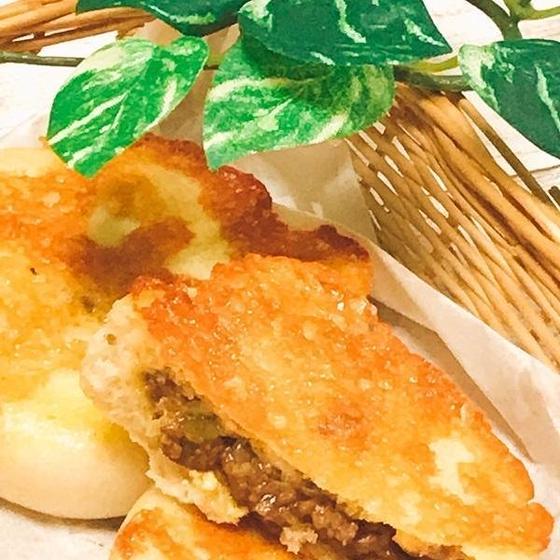 カリッとチーズ包みカレーナン& 紅茶とオレンジのスィーツパン