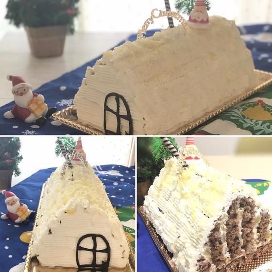 【クリスマスケーキ】マロンたっぷり!ケーキのおうち