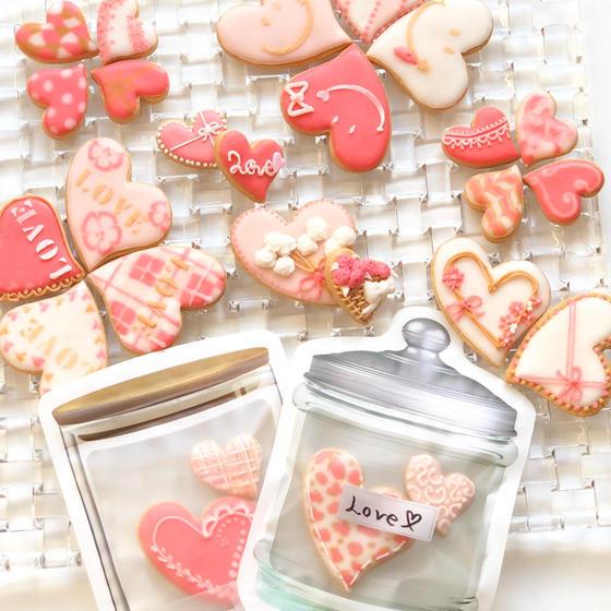 (オンライン)バレンタインアイシングクッキーピンク×ハート