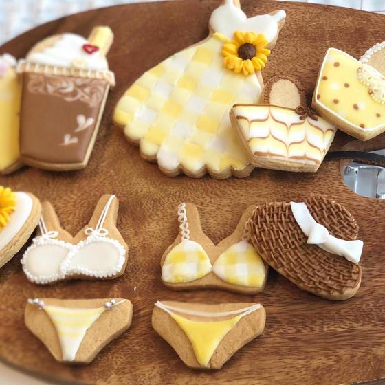yellow summer♡アイシングクッキーレッスン