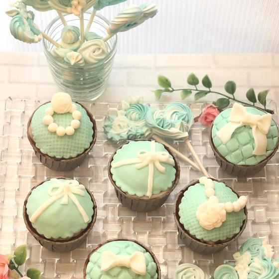 (オンライン)ティファニー風メレンゲポップス&カップケーキ