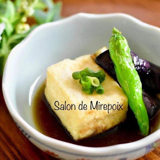 人気の揚げ出汁豆腐