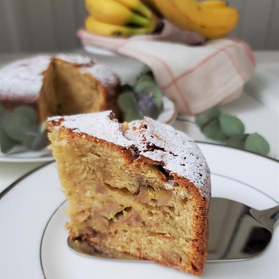 おやつデビュタン『焦しバターのバナナケーキ&コーヒーゼリー』