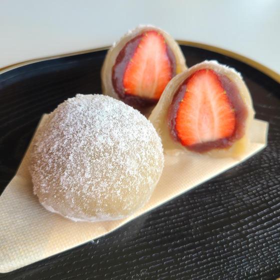 春の和菓子!いちご大福&道明寺のさくら餅