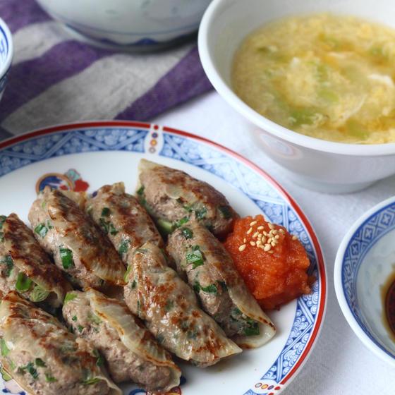 カロリーオフ!包まない大根餃子/中華風コーンスープ/Smile Kitchen特製餃子