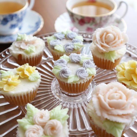 グルテンフリーのカップケーキデコレーションレッスン