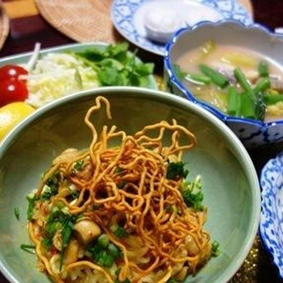 子連れOK!カオソーイ&白身魚のスープ&タピオカ