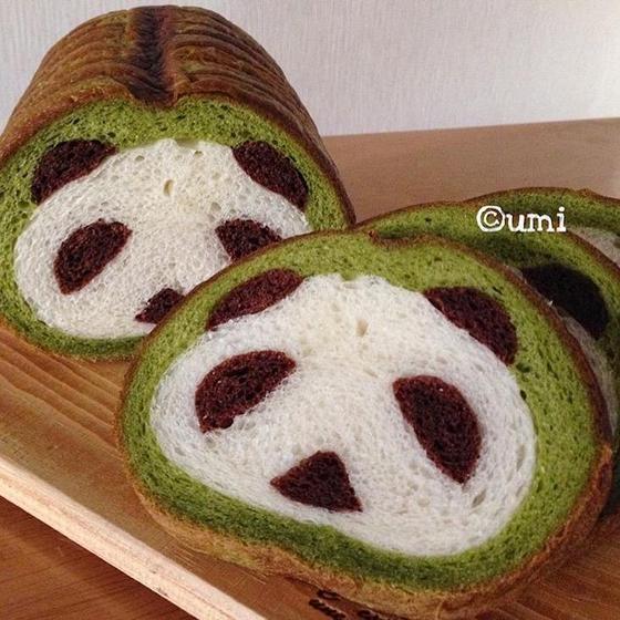 パンダさんのイラストパン
