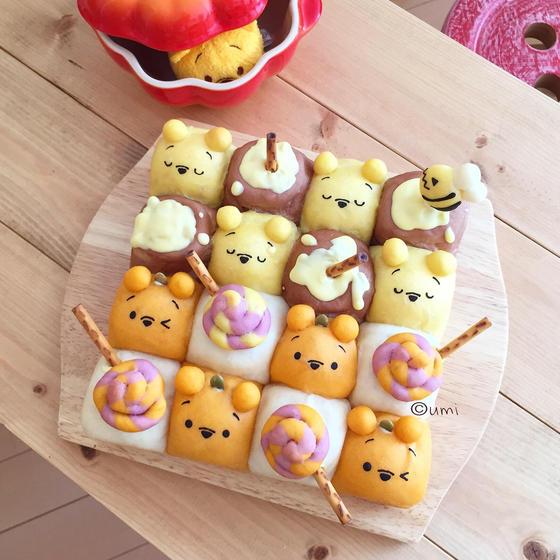 ハロウィン☆スクエア型のちぎりパン