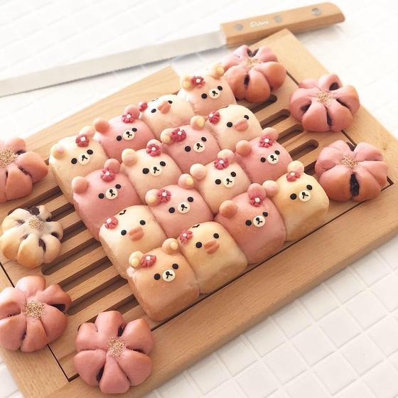 スプリングレッスン☆ちぎりパンと桜あんぱん