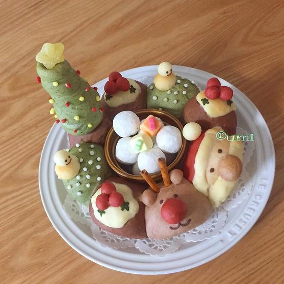 ハッピークリスマス☆エンゼル型のちぎりパン