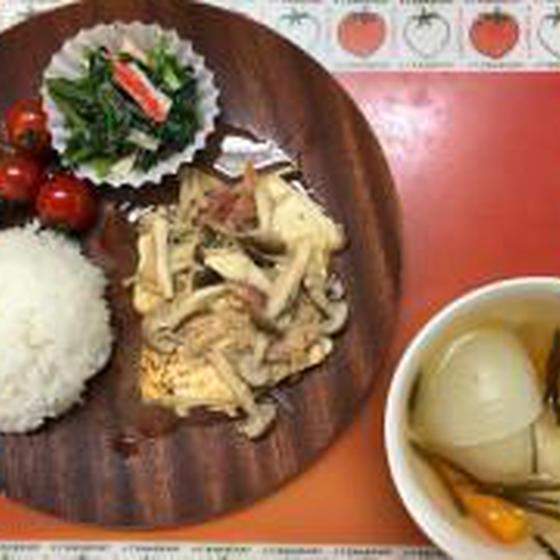 2,5,8,11月  豆腐or白身魚のきのこソース