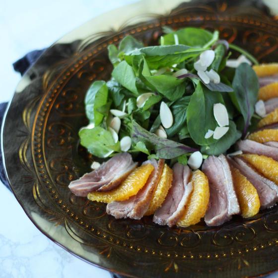 鴨とオレンジのサラダ