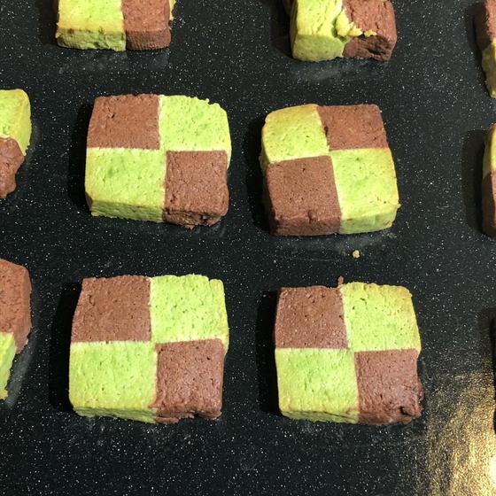 炭治郎の羽織り柄市松模様クッキー