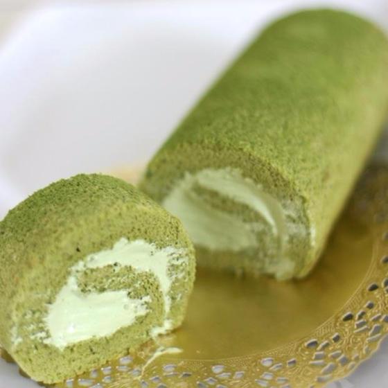 お菓子作りの基礎教室(土)宇治抹茶ロールケーキ