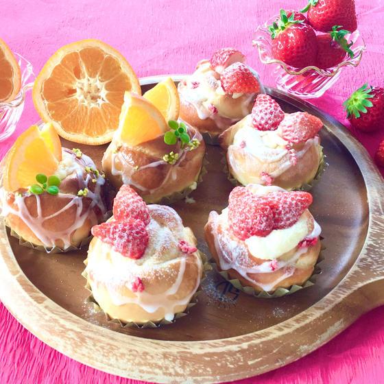 オンライン【動画配信】苺とオレンジのローズブレッド