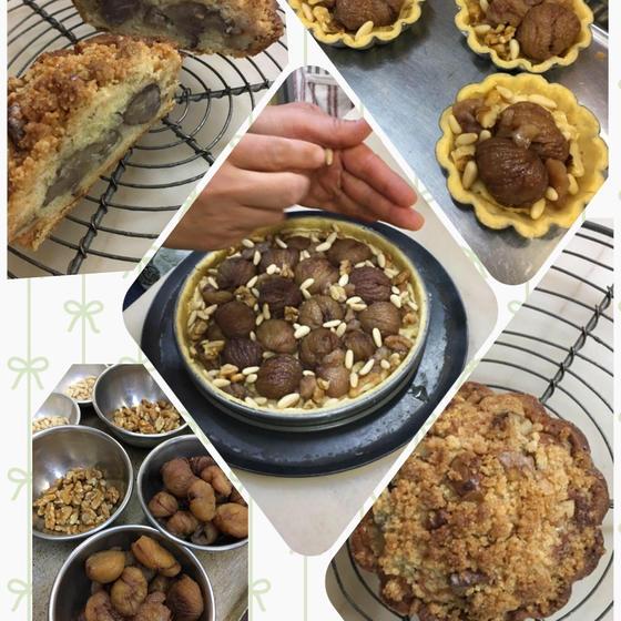 「栗とナッツのタルト」実りの秋に、栗とナッツがホクホクです