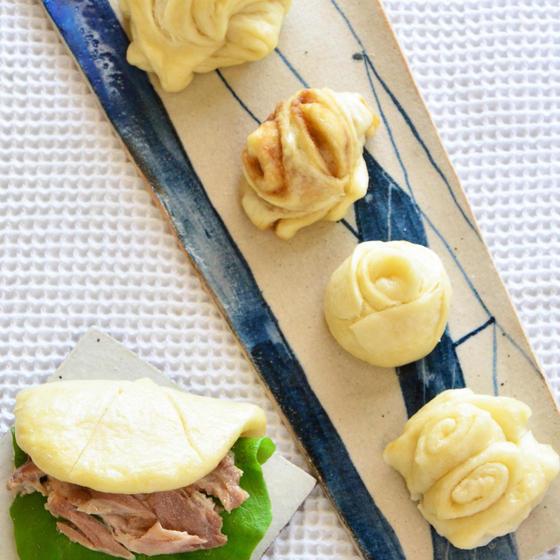 中華蒸しパン『花巻き✿』&柔らか叉焼