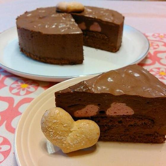 チョコレートムースケーキ(6号.18㌢丸型)