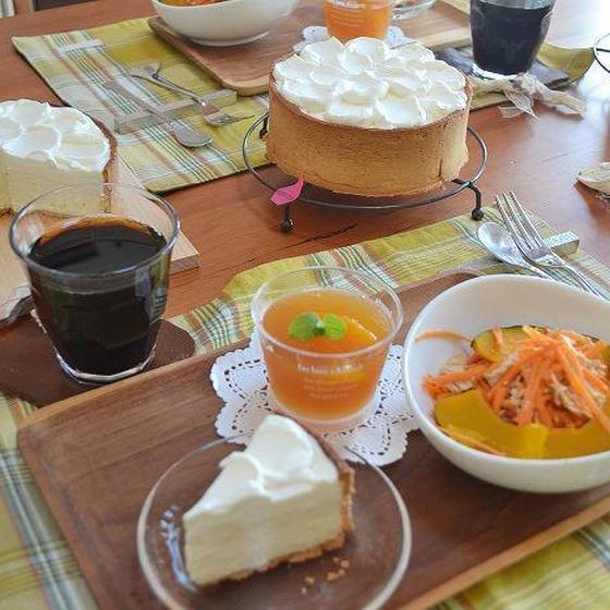 カマンベールのレアチーズ&爽やかなオレンジティーゼリー