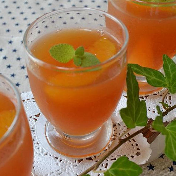 オレンジティーゼリー♪