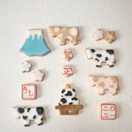 【オンラインレッスン】牛のアイシングクッキー!