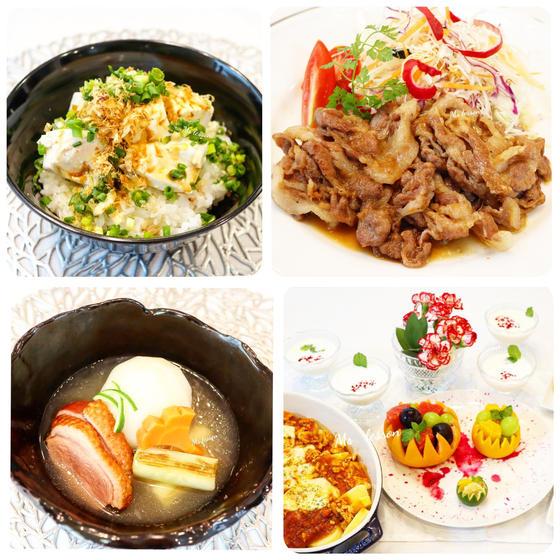 キッズ💛鴨肉と蕪の冬のお椀、国産豚生姜焼き、無農薬で豆腐丼