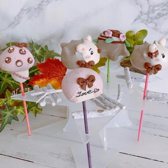 ケーキポップス レッスン ハリネズミたちのお散歩❤︎