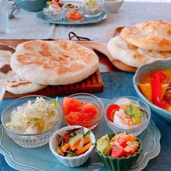 パンとお料理のWレッスン(ナンと夏野菜カレー)