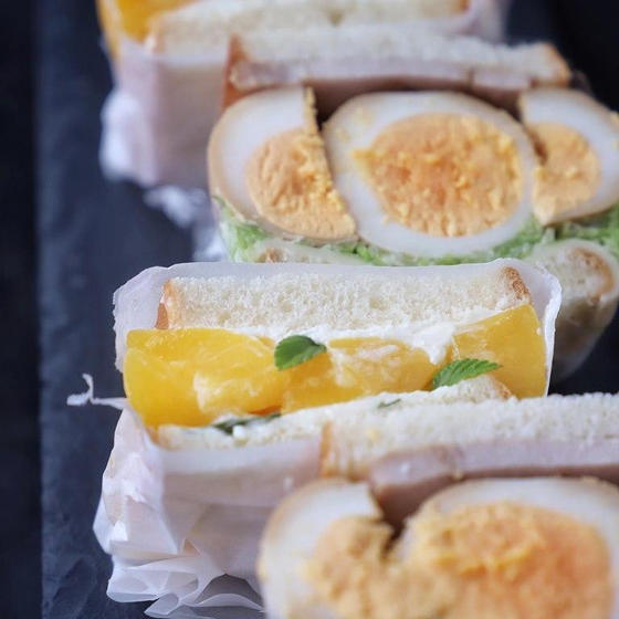 生食パンとデビルサンドイッチレッスン