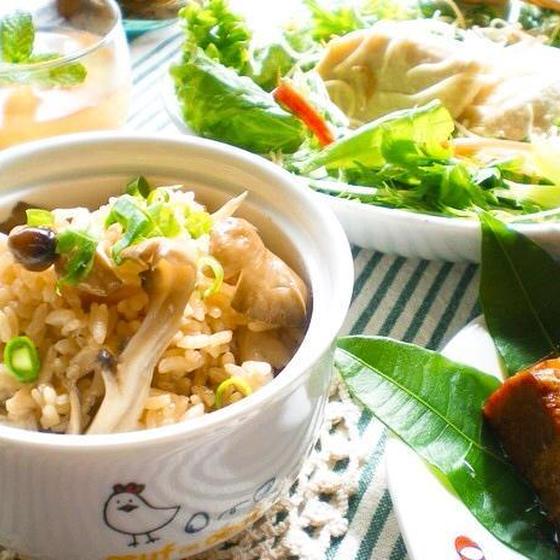 自家製酵母を料理に活用!濃厚♥豚の角煮&茸の炊きこみご飯✿