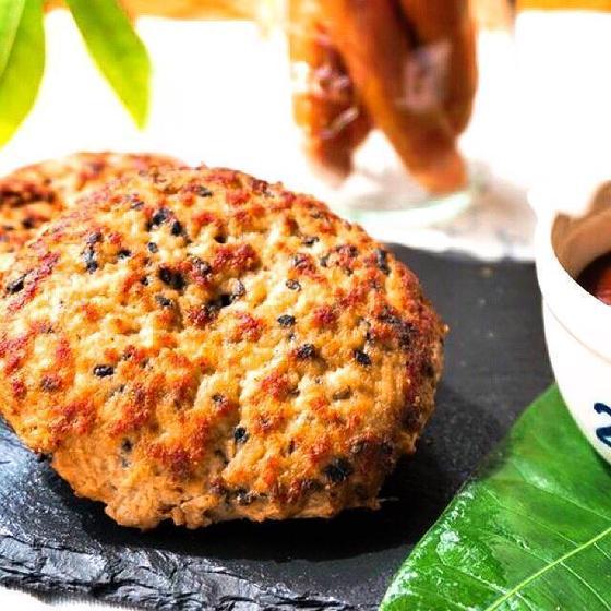 黒胡麻ハンバーグ (バーガーパテ)