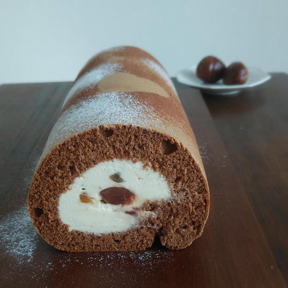 【体験レッスン】マロンショコラロールケーキ