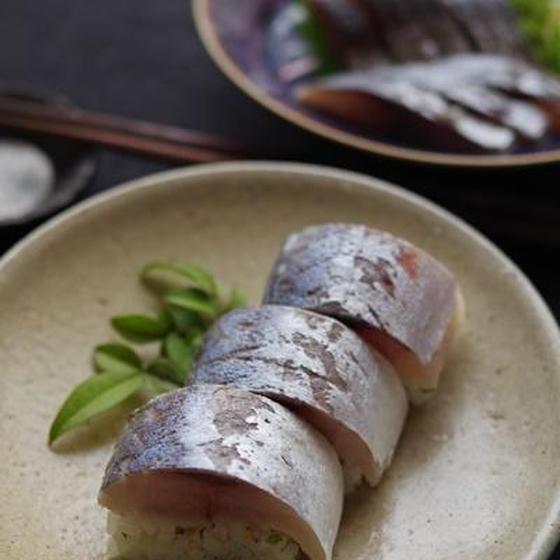 旬の魚を味わいつくす料理教室 鯵の炙り棒寿司