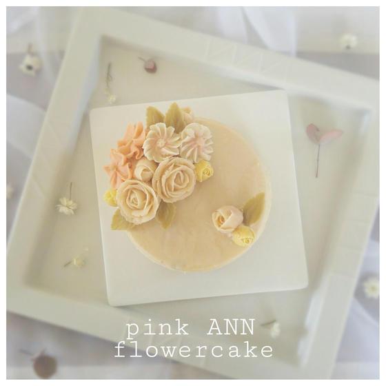 あんフラワーケーキ(ピンク)
