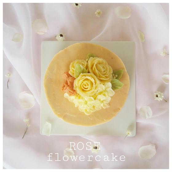 フラワーケーキ(バラのホールケーキ)