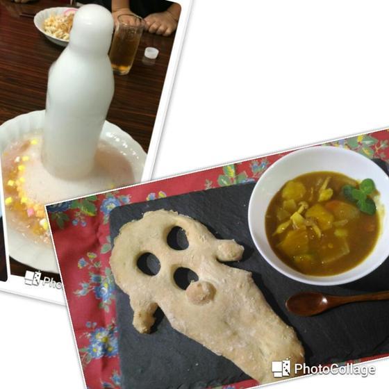 日曜戸塚開催親子パン(年中可)ナン、カレー作り、噴水フルポン