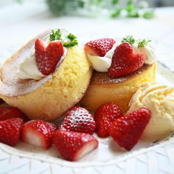 ふわふわスフレパンケーキ(限定2名のみ)
